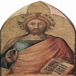 Martini, Simone (Siena, 1284 - Avignon, 1344)  Christ blessing  Tempera on panel, c. 1317  76 &#215; 46 cm  Galleria Nazionale di Capodimonte,  Neapel, Italy
